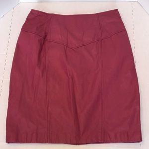 Vintage 1980's Leather Skirt